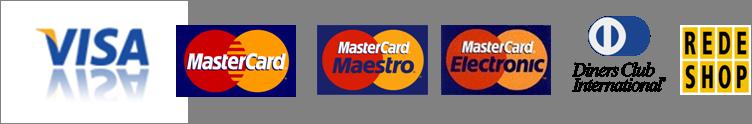 Cartão de crédito aceito na loja
